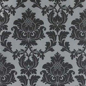 Regency Damask Wallpaper In Black Silver From Homebase Housetohome Co Uk Damask Wallpaper Black And Silver Wallpaper Flock Wallpaper