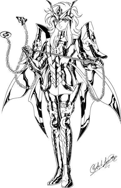 Shun dreesing cosmic cloth by sseljuicio coloriage les chevaliers du zodiaque les chevaliers - Chevalier du zodiaque dessin ...