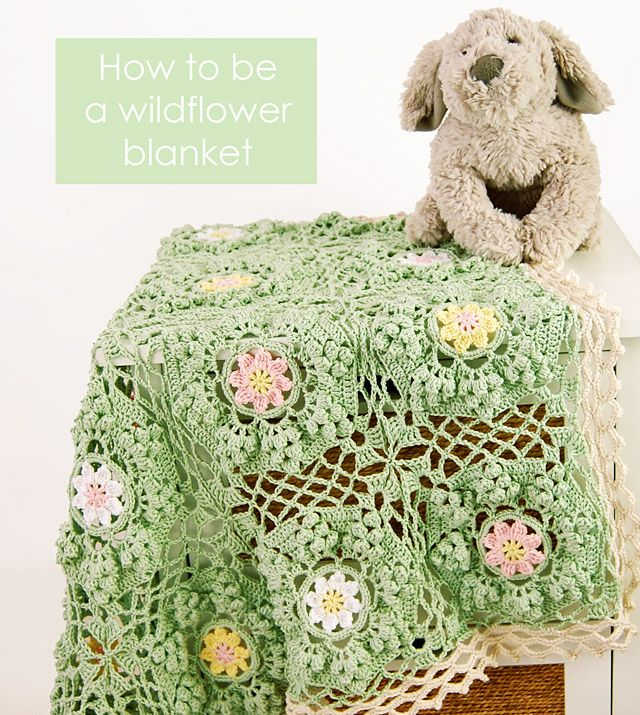 Dada\'s place: How To Be a Wildflower Blanket Pattern | Bellezas en ...