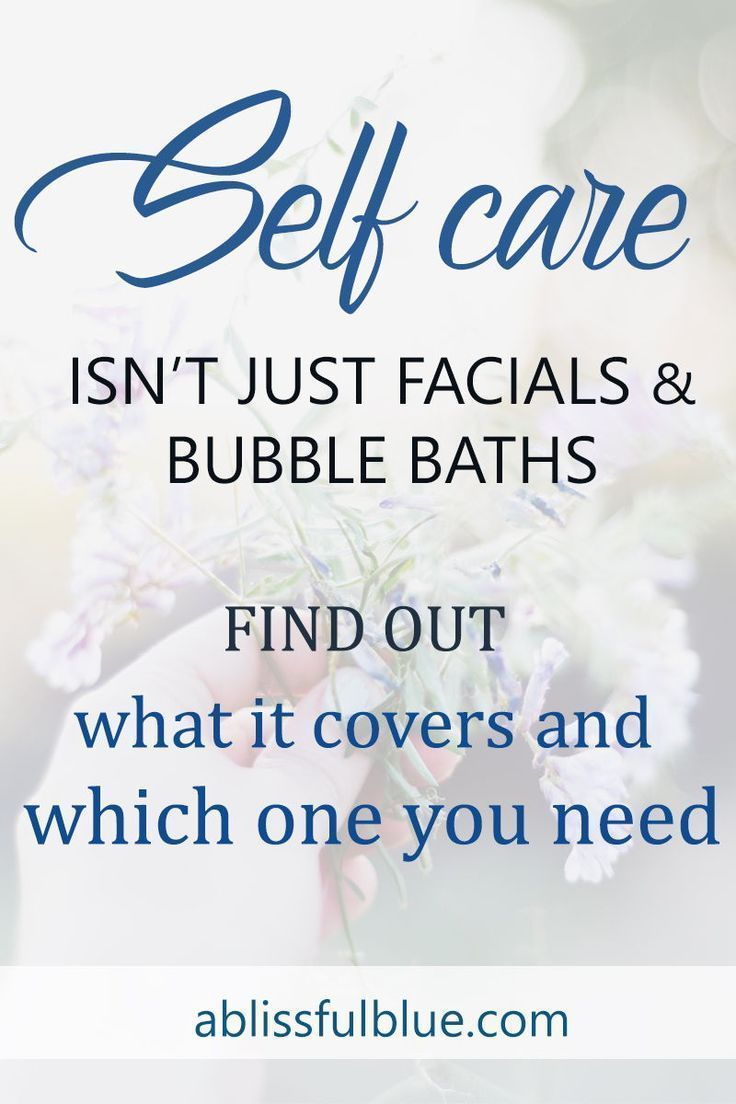 Do you know how many selfcare types there are? And which