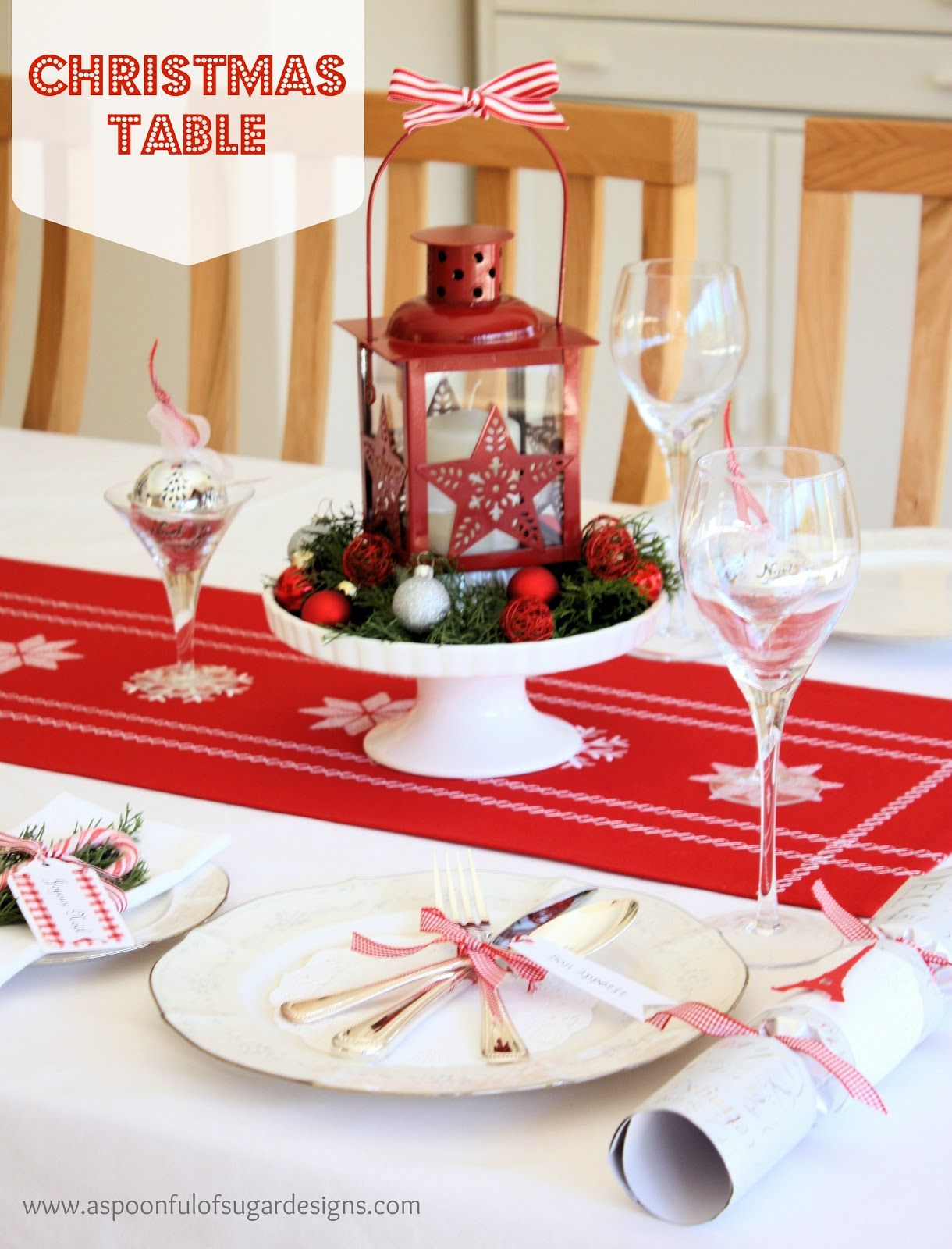 christmas table settings images our christmas table a spoonful & Dining Table Set Up For Christmas. decorating dining room table for ...