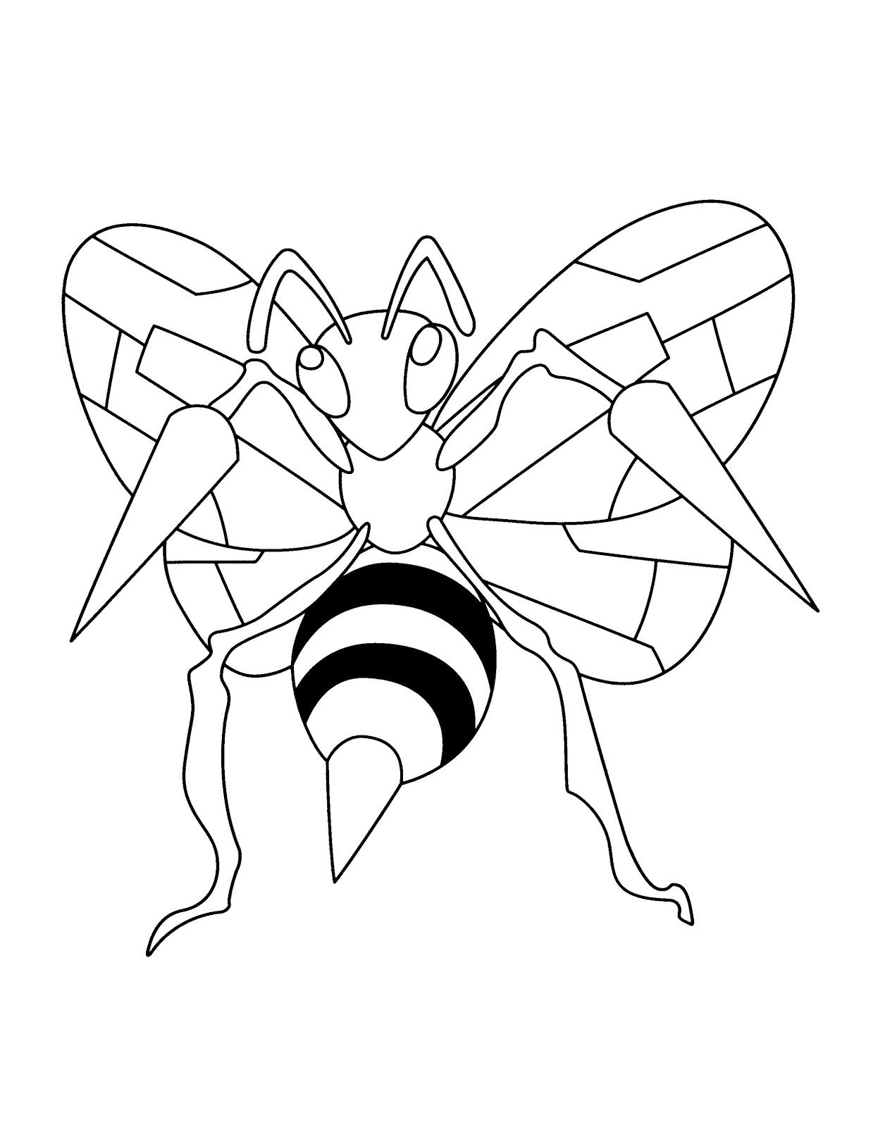 Full Size Beedrill Pokemon Coloring Pages Pokemon Coloring Pages Pokemon Coloring Pokemon Printables