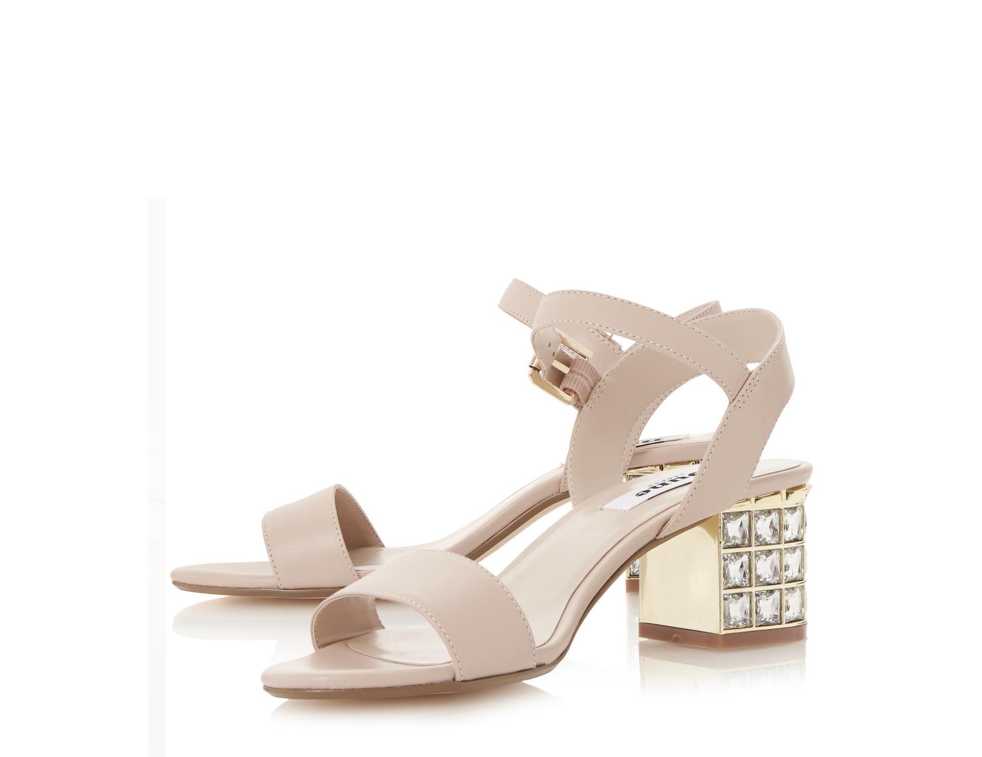 3516032b5bf DUNE LADIES HARAH - Jewelled Block Heel Sandal - blush