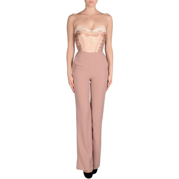 4f2dfdfc9b8c Elisabetta Franchi Gold Jumpsuit ( 200) ❤ liked on Polyvore featuring  jumpsuits