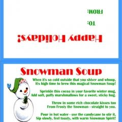 graphic about Snowman Soup Printable Tag identified as Snowman Soup Tags. Therefore Lovely!! Free of charge printable tag alongside with