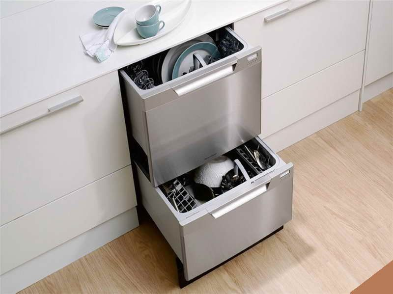 Installing A Small Dishwashers For Tiny Kitchen Design Installing A Small Dishwashers For Tiny K Drawer Dishwasher Two Drawer Dishwasher Dream Kitchens Design