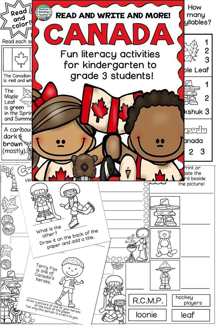 Canada: Canada literacy activities | Canadian Teaching Ideas and ...