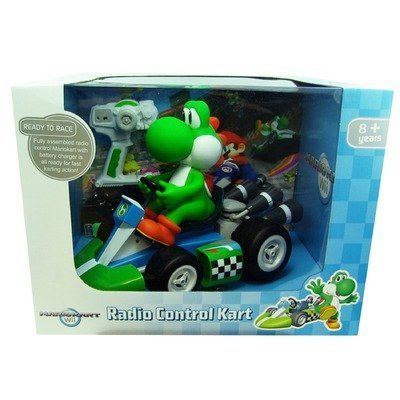 Super Mario Yoshi Radio Control Kart 1 8 Scale By Goldie Marketing 72 98 Official Licensed Product From Nin Radio Control Mario Yoshi Remote Control Cars