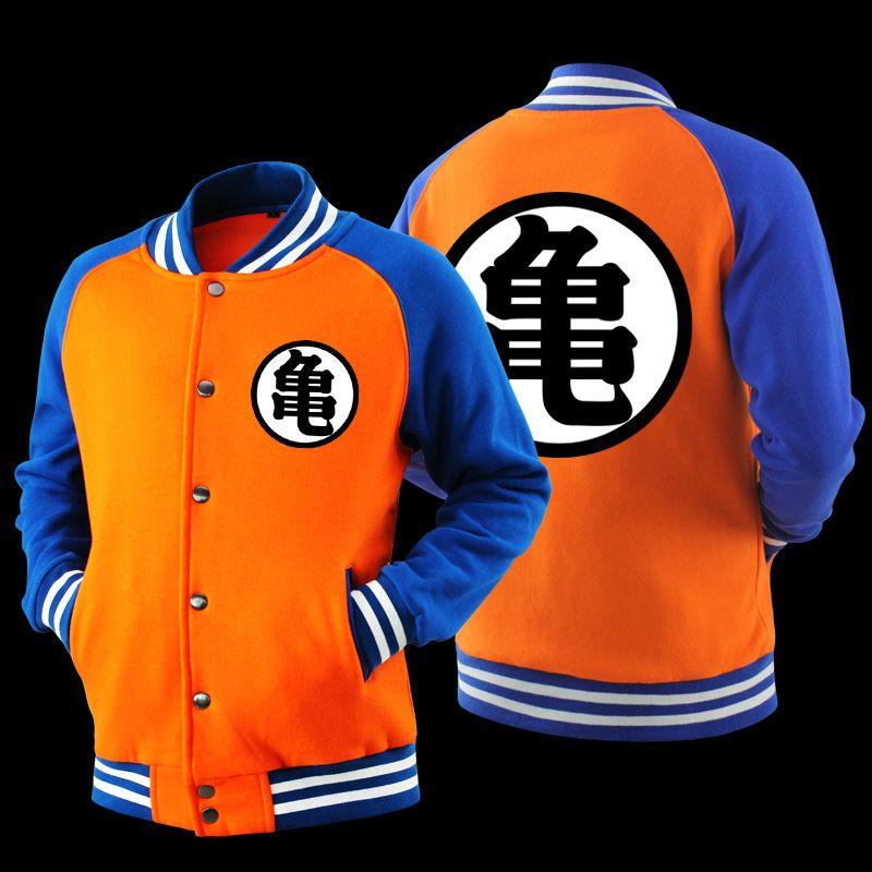 Student Dragon Ball Son Goku Baseball Coat Men Casual Jacket Autumn Sweatshirt