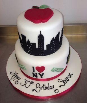 New York city skyline wedding cake Cakes Pinterest City