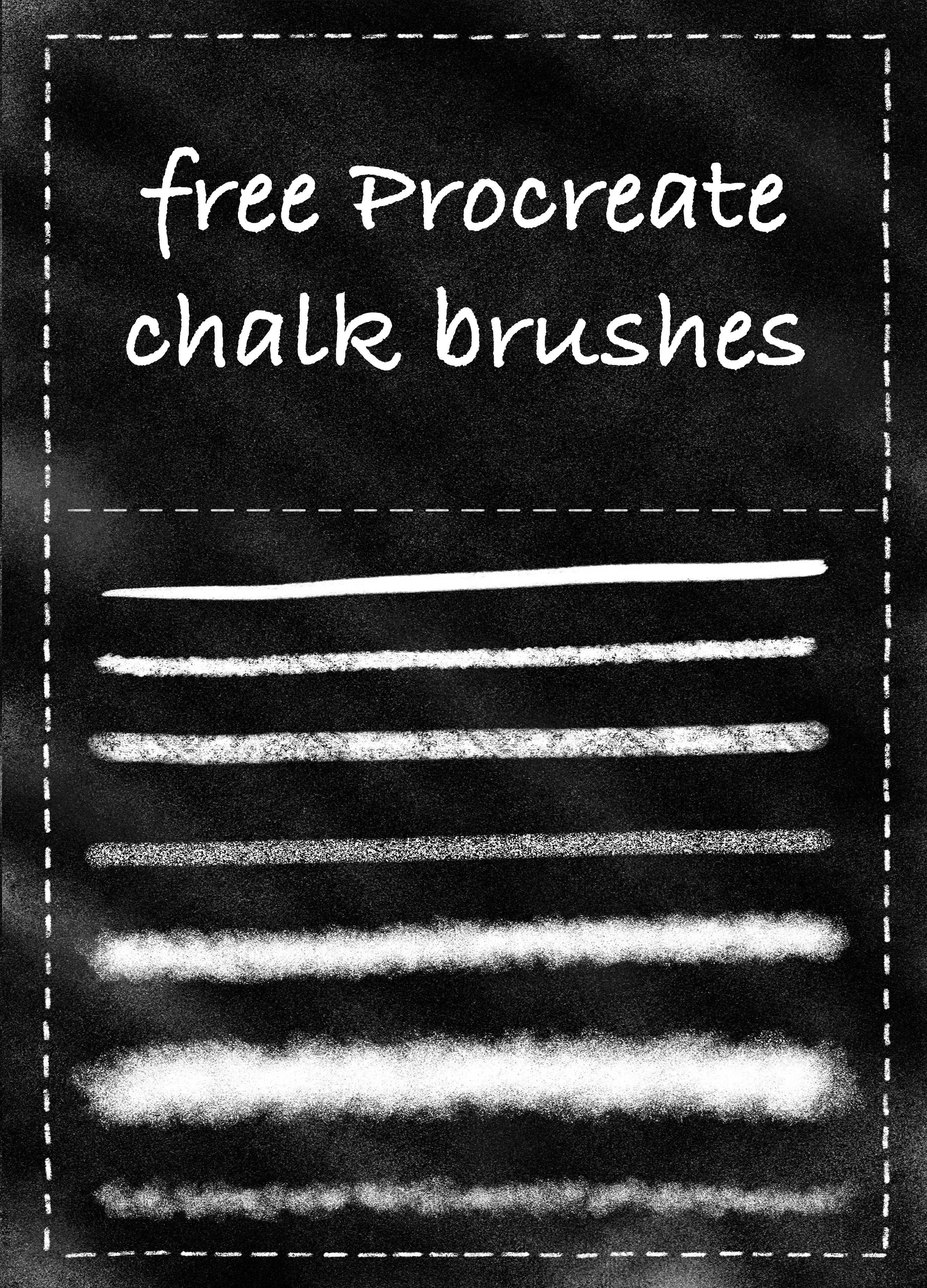 Download Free Chalk Lettering Templates, Chalk Brushes, & Fonts for ...