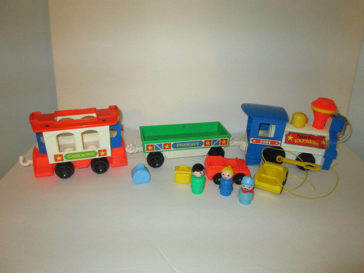 vintage fisher price express train play family retro little people