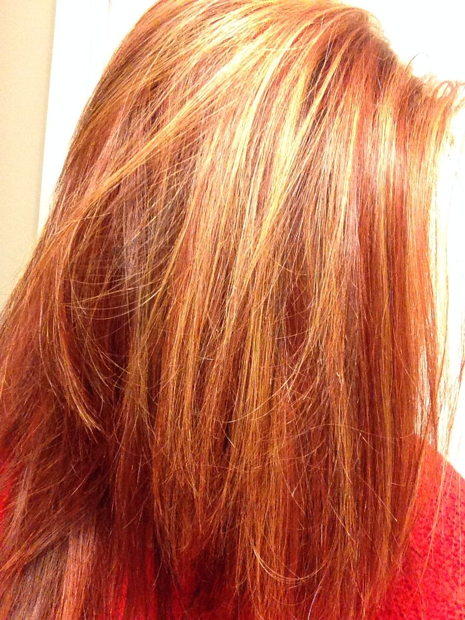 Red Hair With Blonde Highlights In 2019 Red Hair With