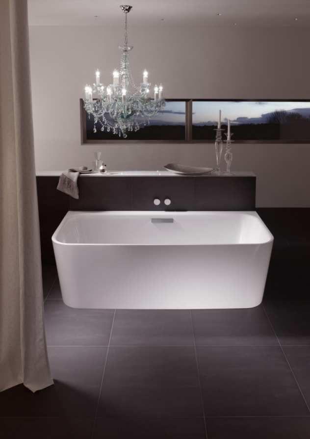 Weiße Badewanne- Wand Bette Art Bad - Badewannen Pinterest - freistehende badewanne raffinierten look