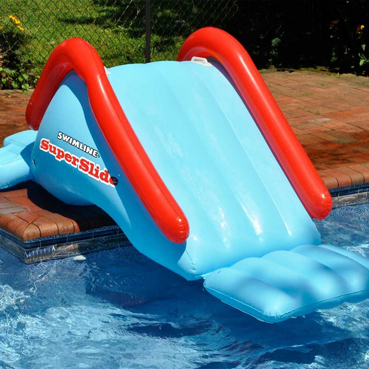 swimline super slide inflatable water slide - Inflatable Pool Slide