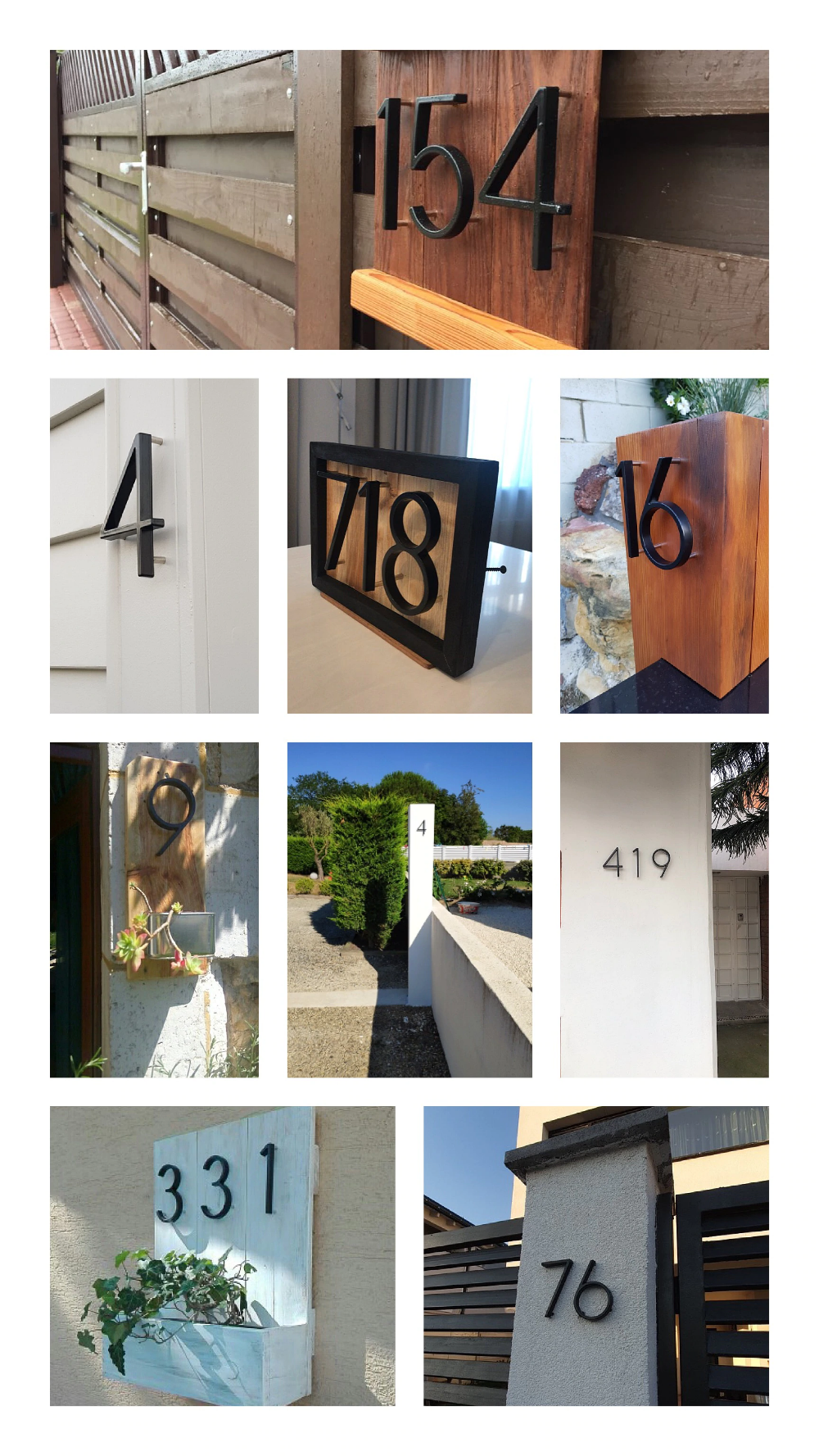 127mm Big Modern House Number Hotel Home Door Number Outdoor Address Plaque