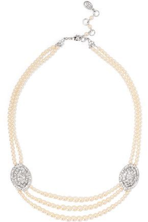 Ben-Amun Ben-amun Woman Tasseled Silver-tone, Faux Pearl And Crystal Necklace White Size