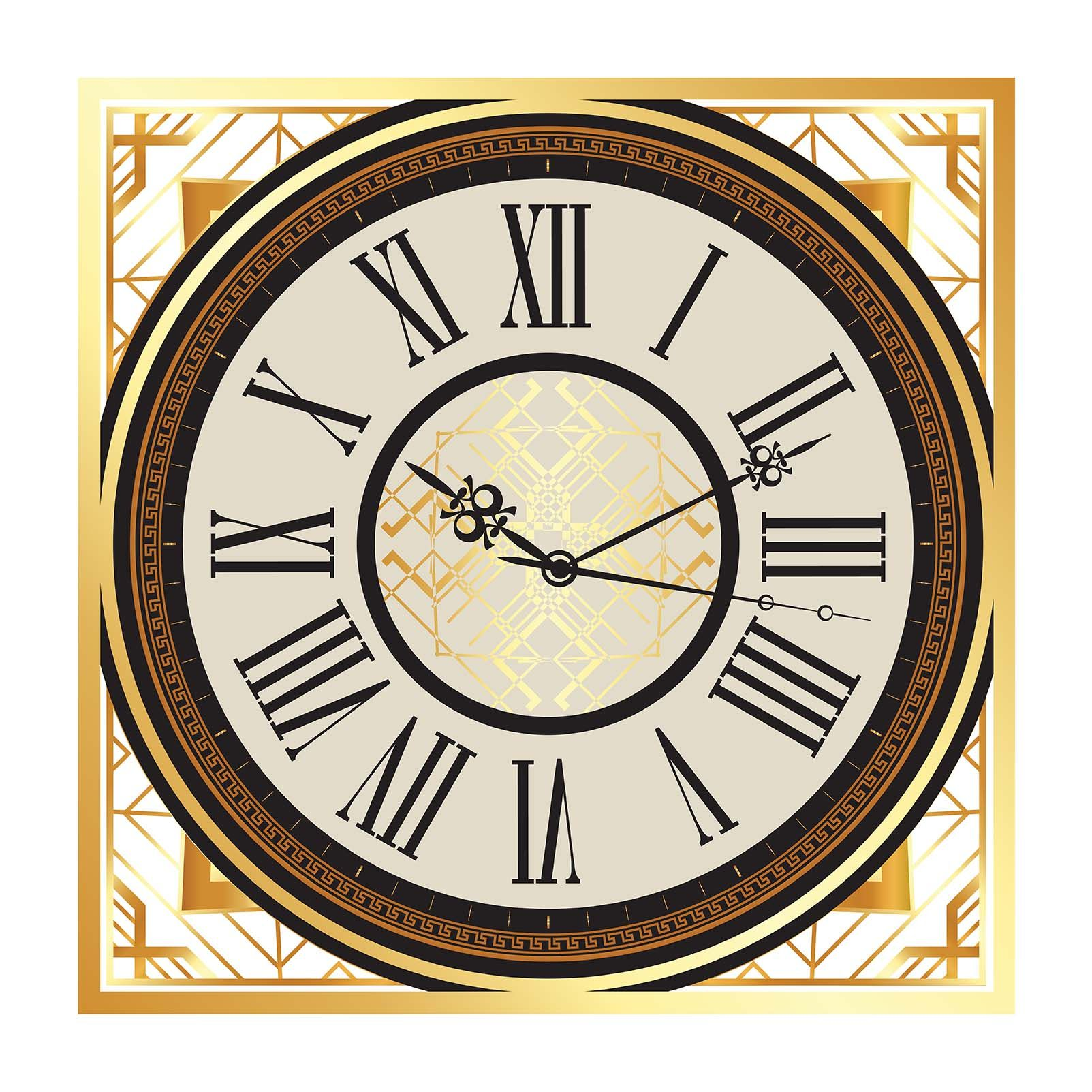 59cm Clocks Antiques Devoted Antique French Japy Freres Brass Gilt Wall Clock