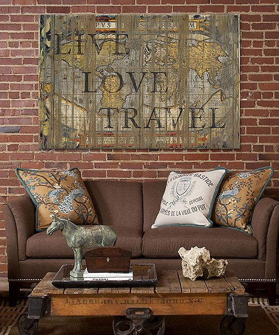 Live Love Travel Canvas Wall Art