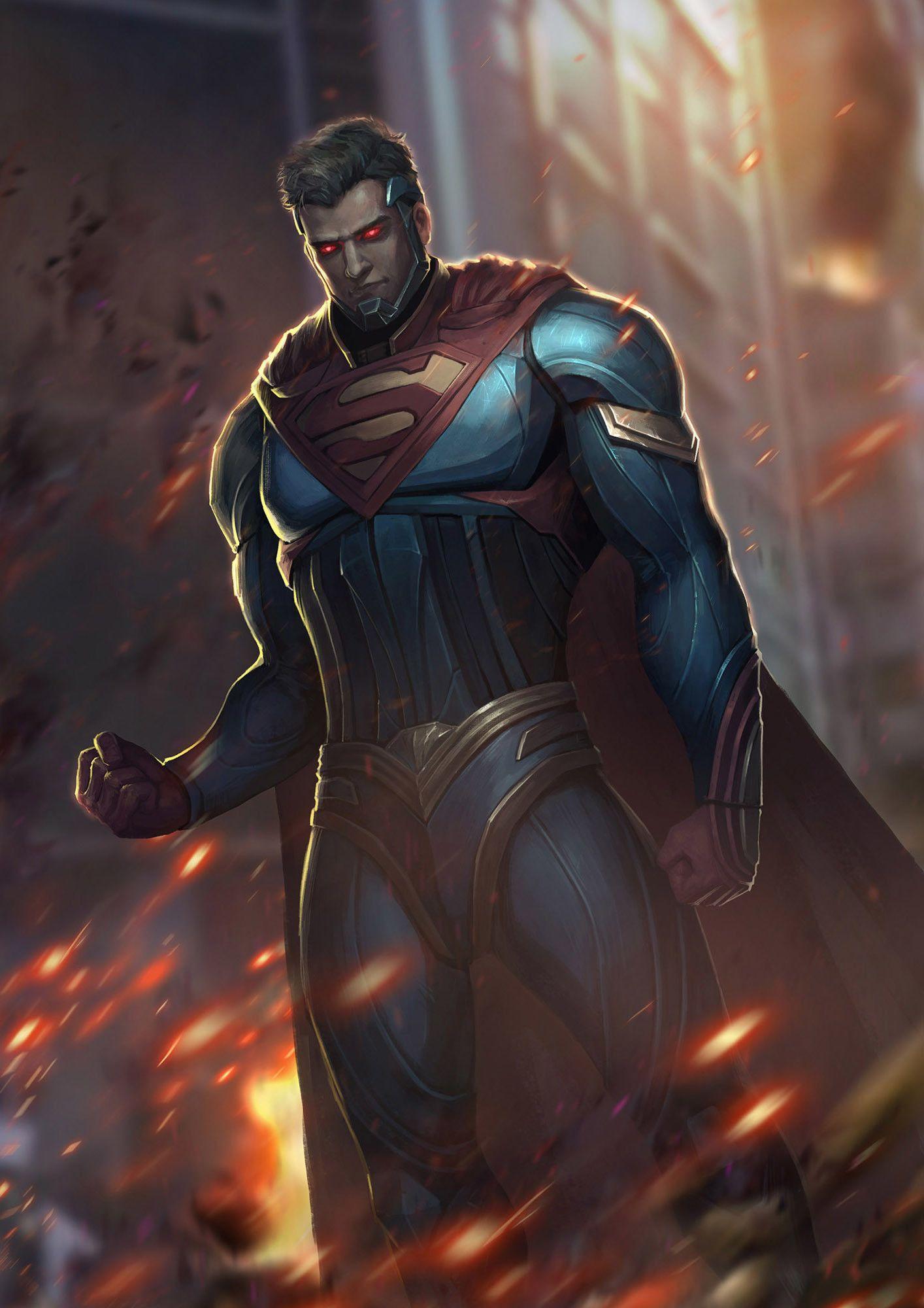 Injustice League Superman By Xiaochen Li Dc Comics Superman Batman And Superman Evil Superman