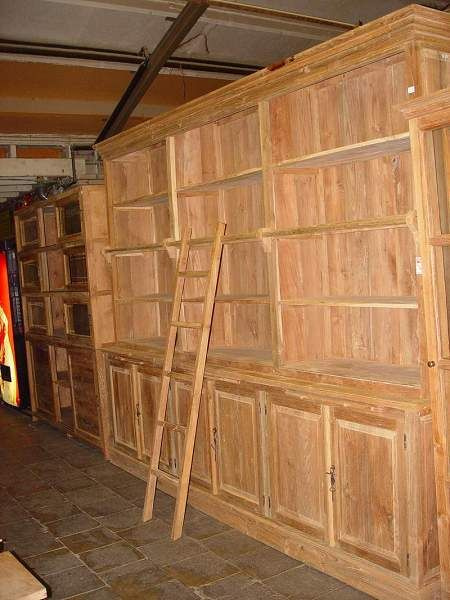 Teakshop BV teak - 002 Boekenkasten Teak- Enorme boekenkast met ...
