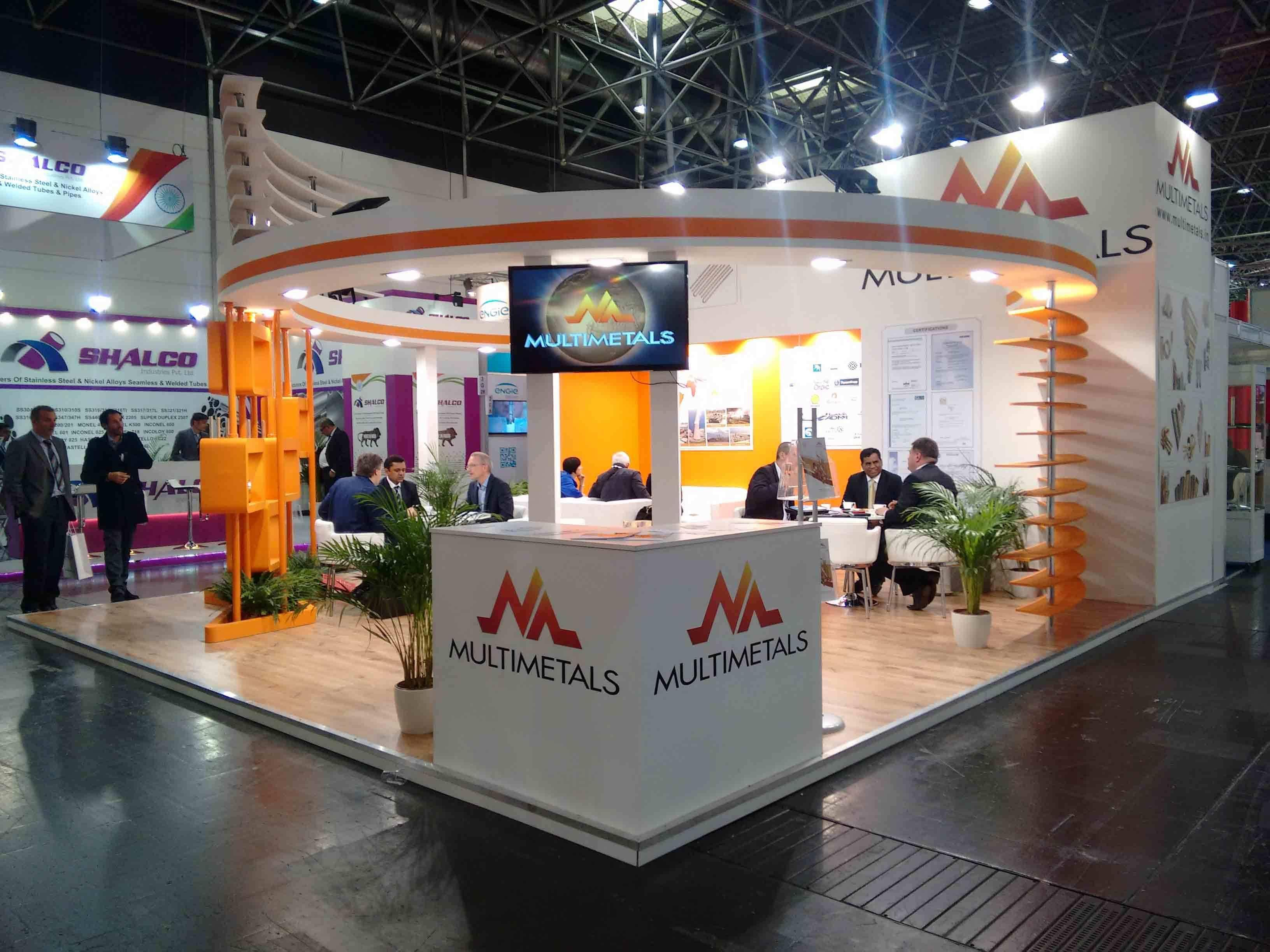 Exhibition Stand Builders In Germany : The bespoke trade show stand designed for multimetals at