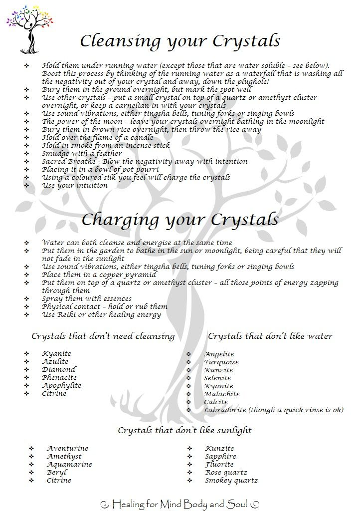 how to cleanse and charge crystals with selenite