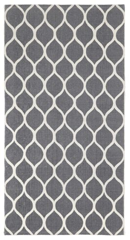 Handwebteppich Grau Baumwolle bei mömax günstig bestellen