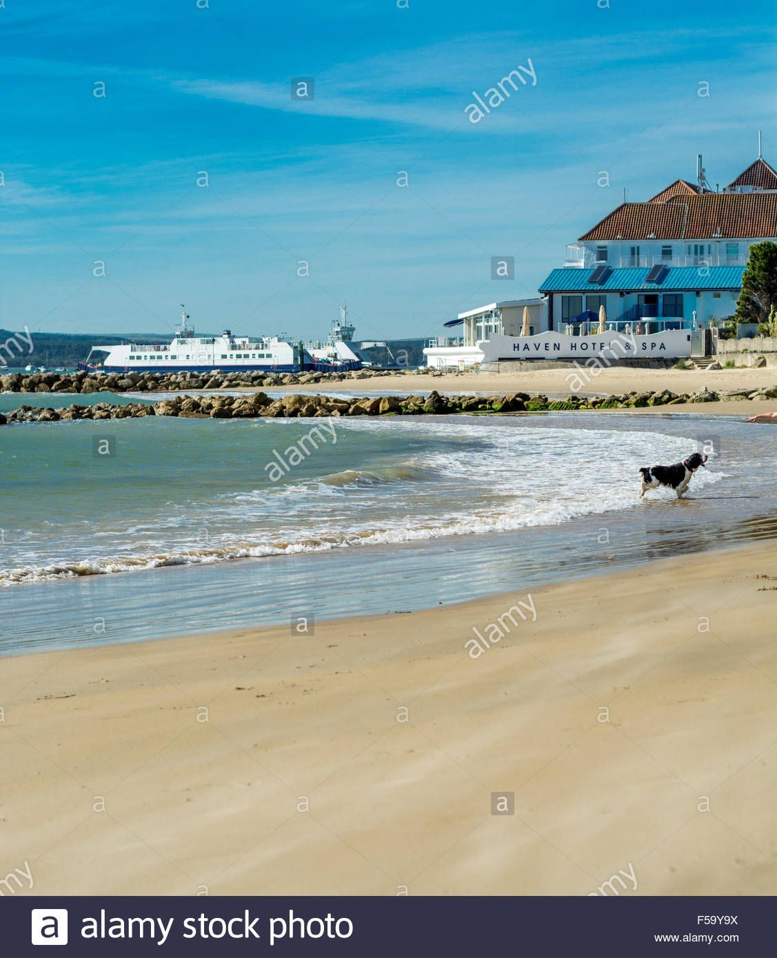Stock Photo View From The Beach At Sandbanks Poole Dorset Uk Taken On 29th September 2015 Beautiful Places On Earth Dorset Photo