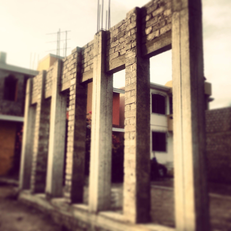 Avance de obra, terraza arquitectura