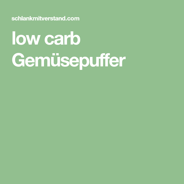low carb Gemüsepuffer