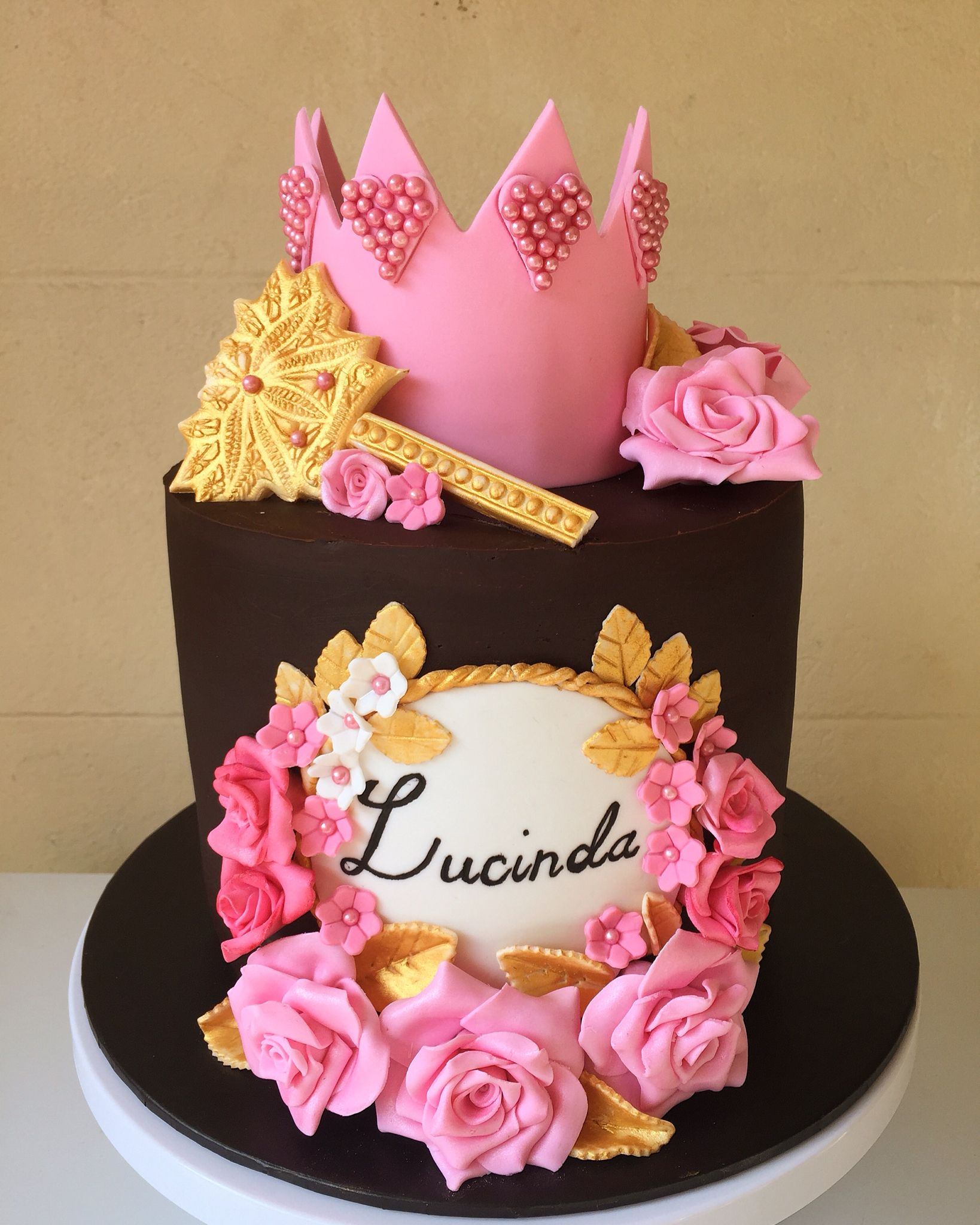 Princess cake birthday girl Crown cake fondant crown fondant