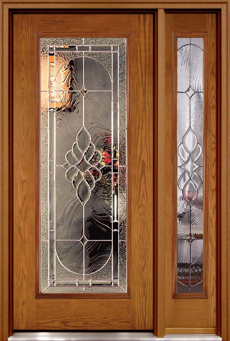 Fiberglass door right sidelite fiberglass door