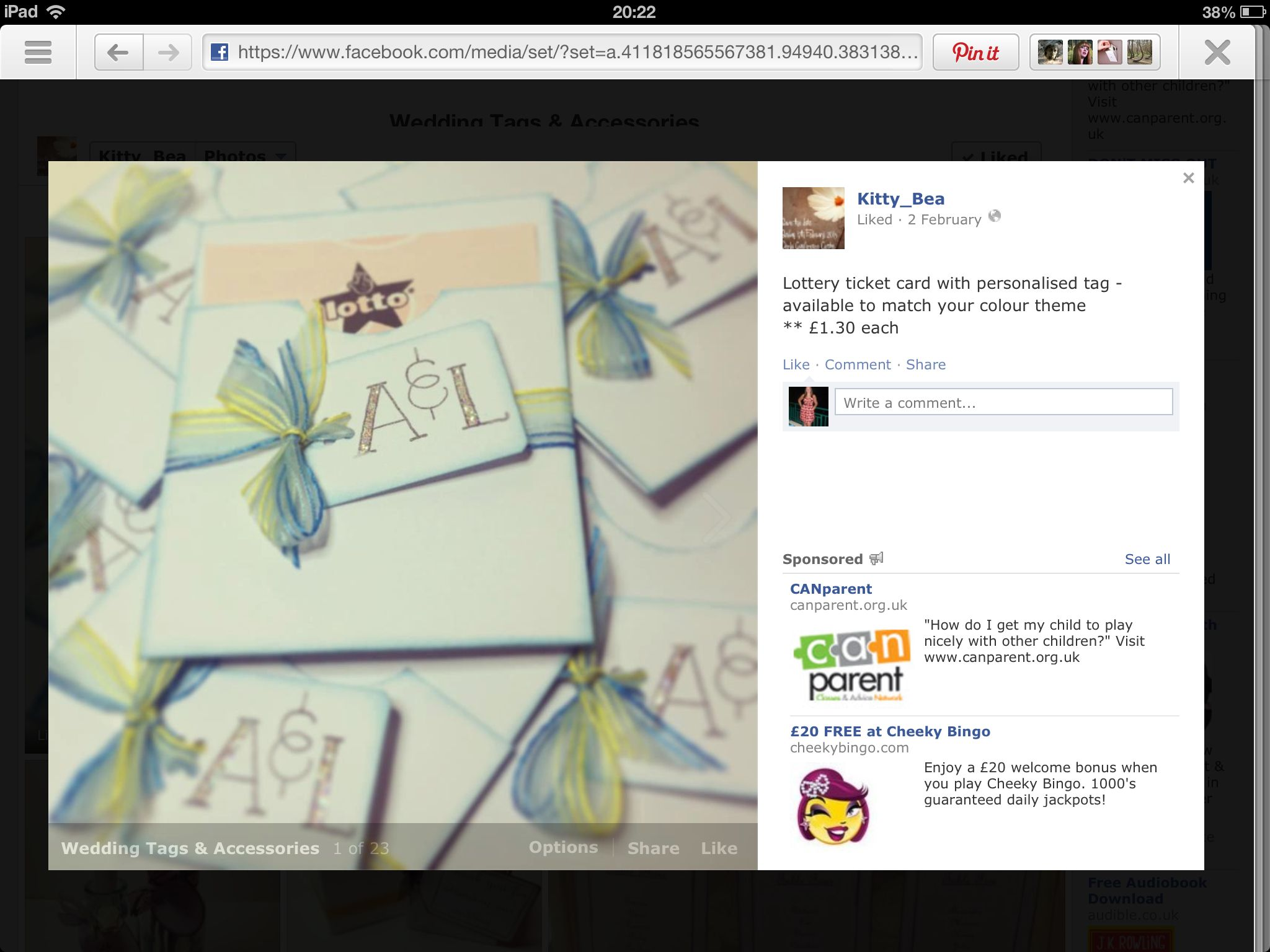 Lottery Tickets as favours, nice idea.. can be made to look pretty ...