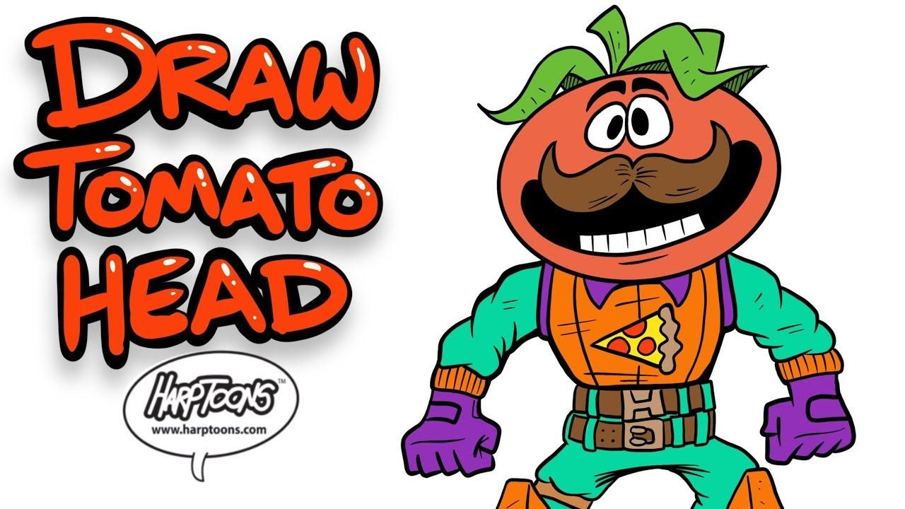 Tomato Head How To Draw From Fortnite Harptoons In 2020 Draw Character Names Drawings