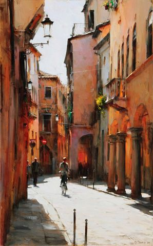 MIDDAY IN PADOVA ITALY, Dmitri Danish (b1966, Kharkov, Ukraine)