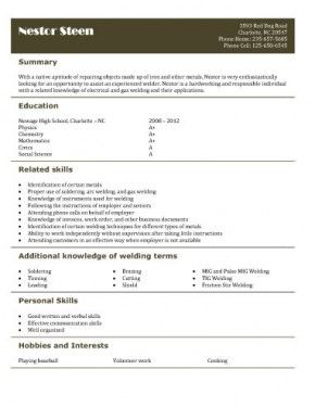 Babysitting On A Resume Welderhelperresume  Teenage Cv  Pinterest  High School Students .