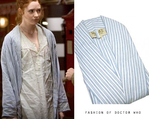 Amy Pond - The Beast BelowBlue Stripe Dressing Gown from Magee of ...