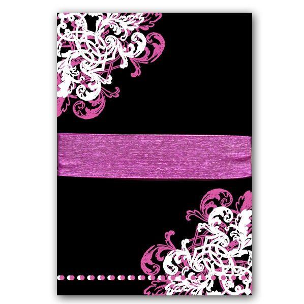 ornamental corner pattern gatefold 15th birthday invitations, Birthday invitations
