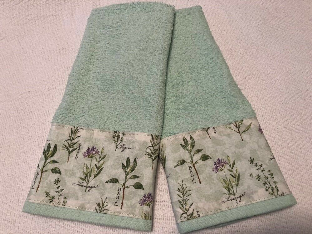 Herbs And Es Mint Green Kitchen Towels New Ebay Http