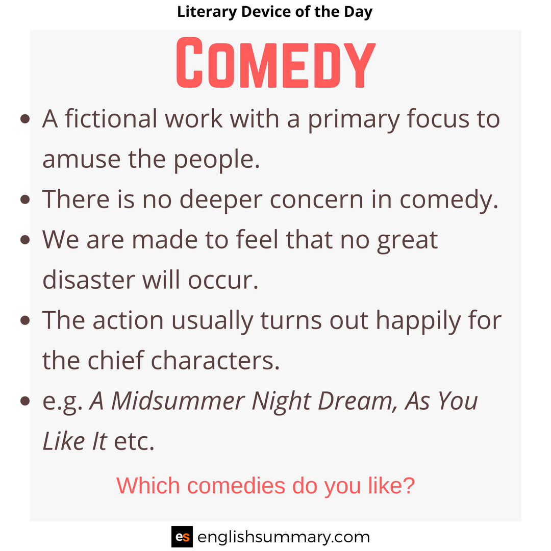 Comedy Meaning in English | Teaching literature, Literary