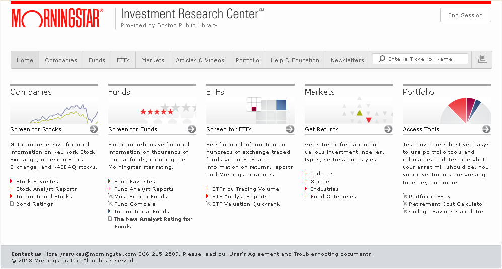 Morningstar Investment Research Center Provides RealTime Access