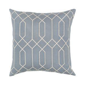 Fresco Throw Pillow in Light Blue
