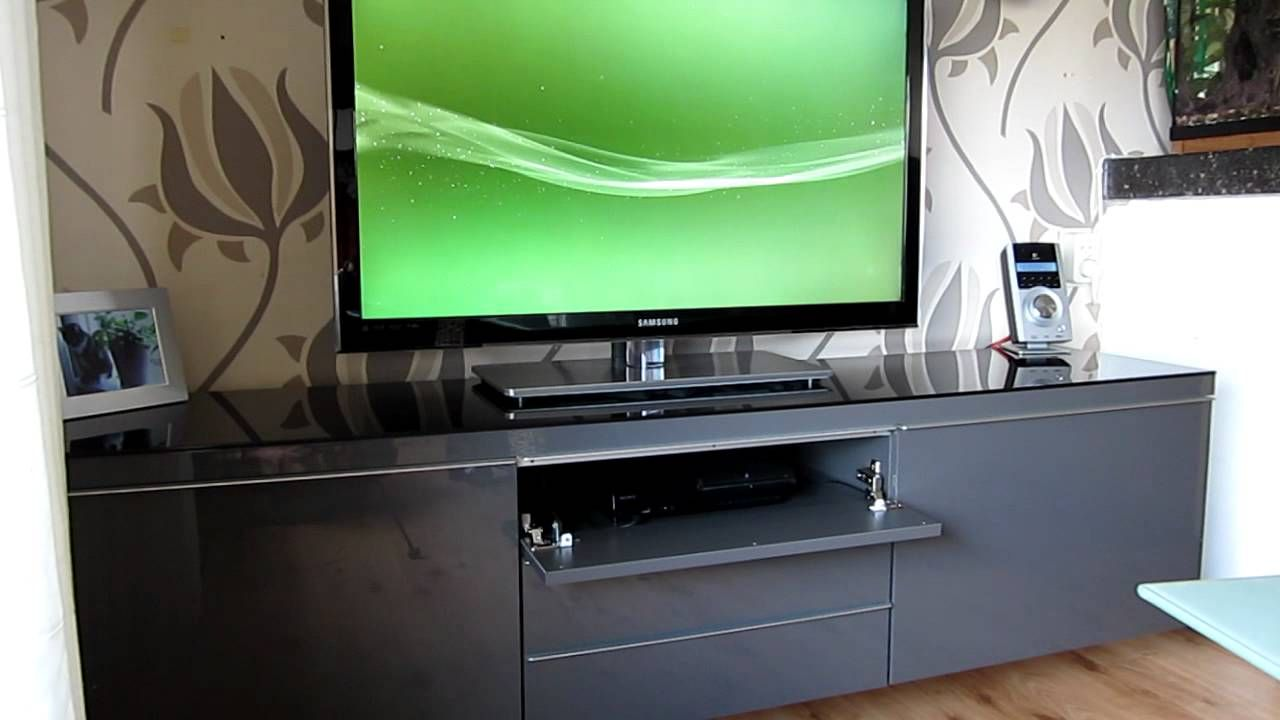 Besta Ikea Modified Ikea Besta Burs Youtube Just Want The Tv  # Ikea Meuble Tv Besta Burs