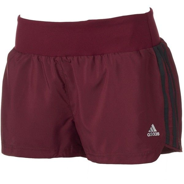 Women's Adidas Mia climalite Mesh Running Shorts, Size: L, Red.