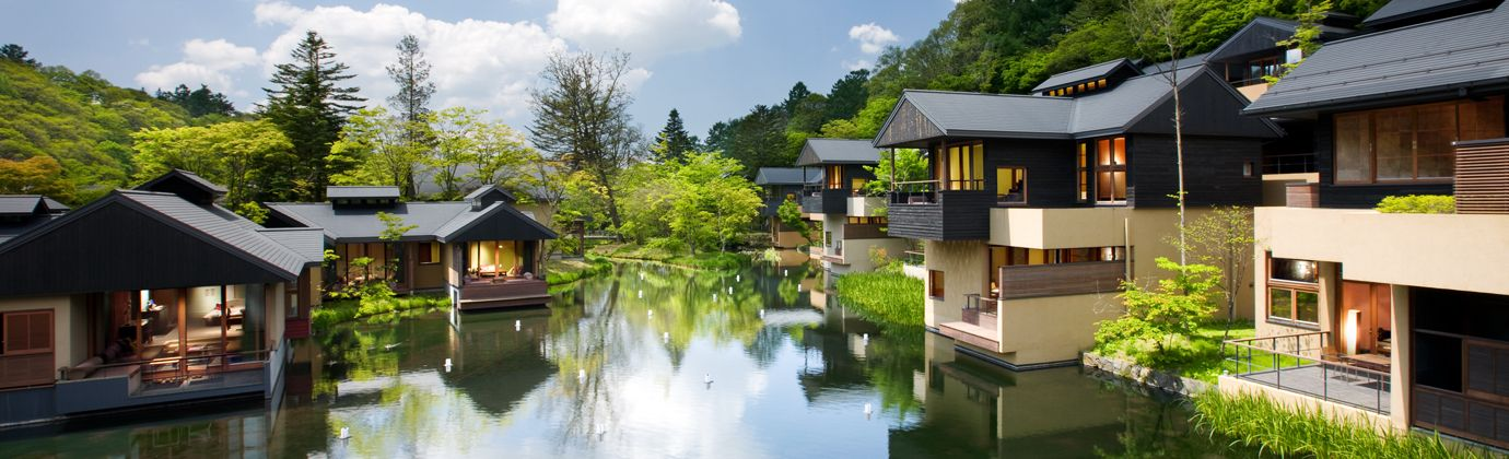 HOSHINOYA Karuizawa is a luxury resort located in Nagano, Japan, operated by Hoshino Resorts. Opened in July 2005, as 1st HOSHINOYA property.