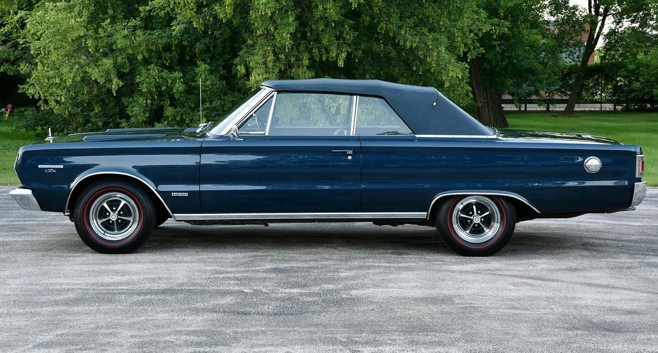 A very rare car . . . one of the 17 1967 Hemi GTX convertibles and ...