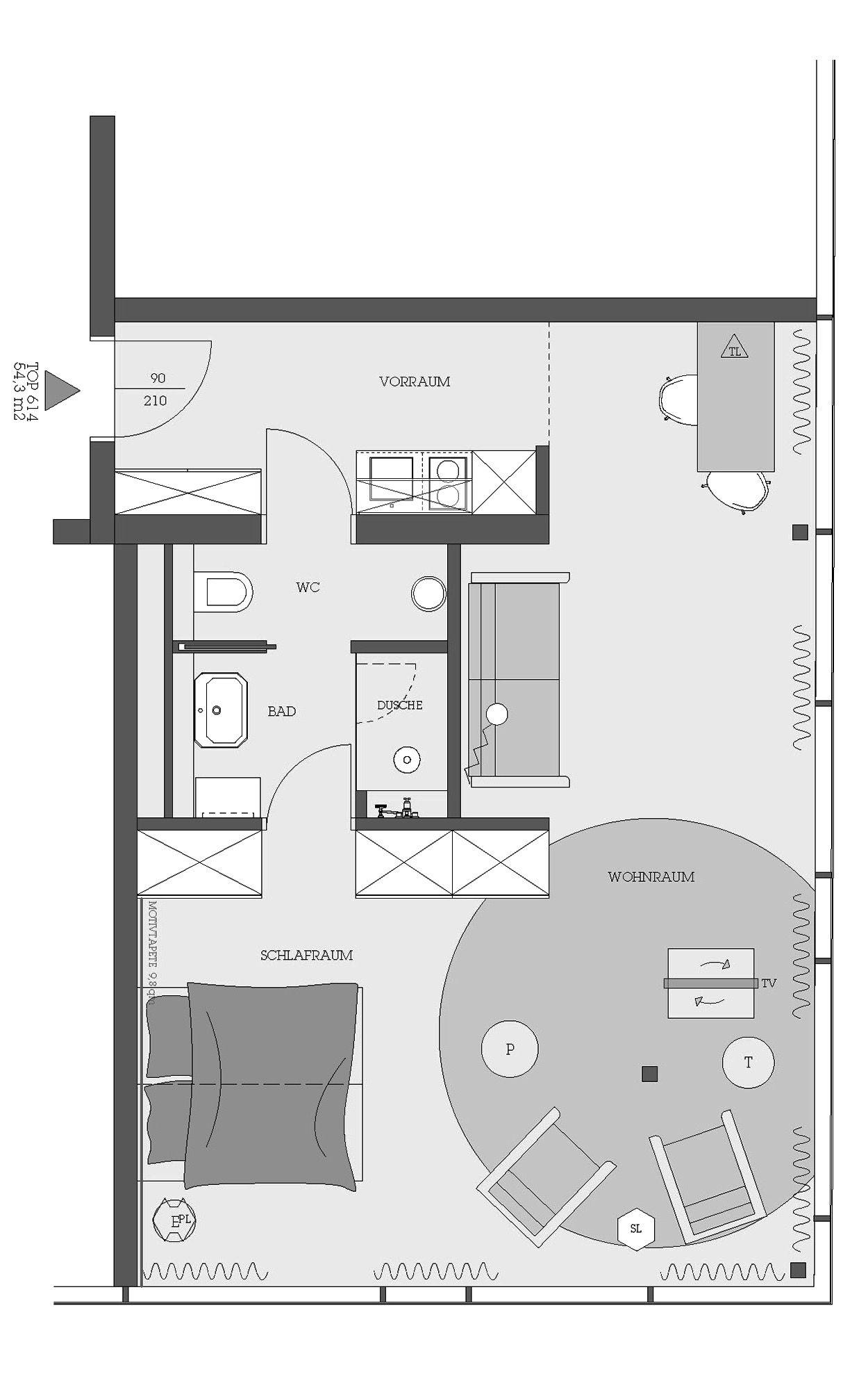 25hours hotel vienna residential in 2019 wohnungsbau for Hotel badezimmer grundriss