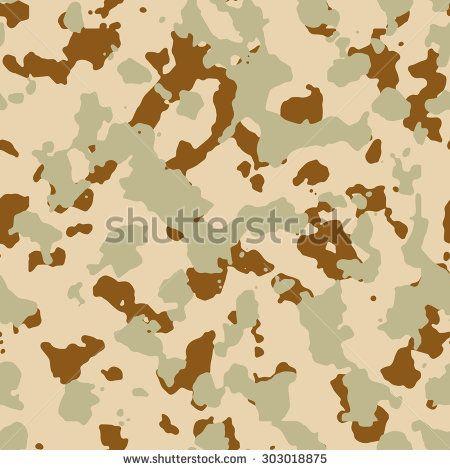 Seamless Fashion Desert Sand Brown Camouflage Pattern Vector