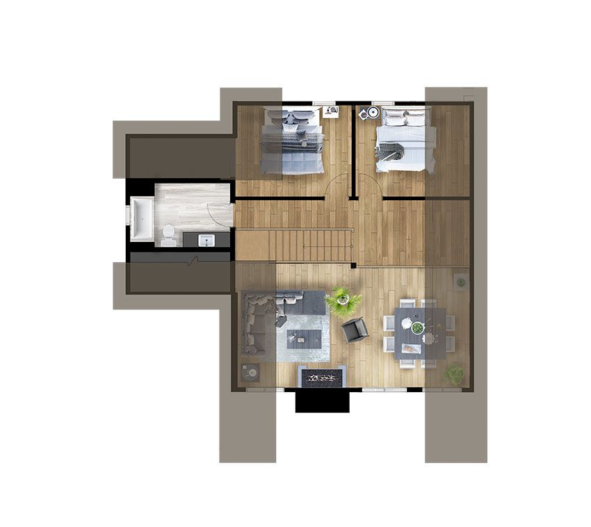 Second Floor Plans De Maisons Rustiques Plans De Cottage Chalet